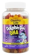 Country Life - Dolphin Pals DHA Gummies For Kids 100 mg. - 90 Sour Gummies by Country Life