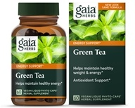 Gaia Herbs - Green Tea Liquid Phyto Caps - 60 Vegetarian Capsules (751063402002)