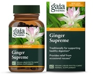 Gaia Herbs - Ginger Supreme Liquid Phyto Caps - 60 Vegetarian Capsules, from category: Herbs