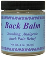 Wise Ways - Back Balm Soothing Analgesic Pain Relief - 4 oz.