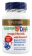 Image of Spectrum Essentials - Children's DHA Omega-3 With Vitamin D Strawberry Banana Flavor - 90 Chewable Softgels