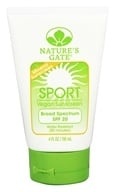 Nature's Gate - Mineral Sportblock Suntan Lotion Fragrance Free 20 SPF - 4 oz. by Nature's Gate