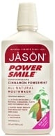 JASON Natural Products - Power Smile Mouthwash Cinnamon Mint - 16 oz.