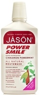 Image of Jason Natural Products - Power Smile Cinnamon Mint Mouthwash - 16 oz.