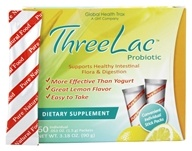Global Health Trax (GHT) - ThreeLac Probiotic Natural Lemon Flavor - 60 Packet(s) (816663007504)