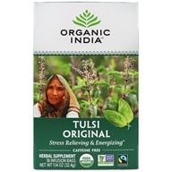 Organic India - Tulsi Tea Original - 18 Tea Bags by Organic India