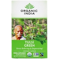Image of Organic India - Tulsi Tea Green Tea - 18 Tea Bags