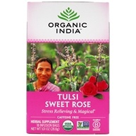 Organic India - Tulsi Tea Sweet Rose - 18 Tea Bags (801541500161)