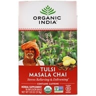Organic India - Tulsi Tea Chai Masala - 18 Tea Bags (801541500017)