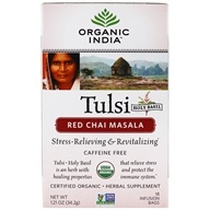 Organic India - Tulsi Tea Red Chai Masala - 18 Tea Bags (801541500024)