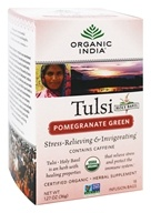 Organic India - Tulsi Tea with Elderberry Pomegranate Green - 18 Tea Bags (801541500031)