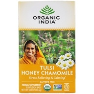 Organic India - Tulsi Tea Honey Chamomile - 18 Tea Bags (801541500055)