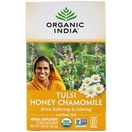 Organic India - Tulsi Tea Honey Chamomile - 18 Tea Bags by Organic India