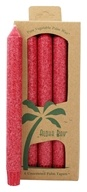 Aloha Bay - Palm Tapers Unscented Candles Red - 4 Pack