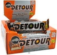 Forward Foods - Detour Deluxe Whey Protein Energy Bar Lower Sugar Caramel Peanut - 3 oz.