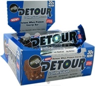 Forward Foods - Detour Deluxe Whey Protein Energy Bar Lower Sugar Chocolate Chip Caramel - 3 oz.