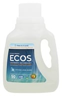 Earth Friendly - ECOS Hypoallergenic Laundry Detergent with Built-In Fabric Softeners Free & Clear - 50 oz.
