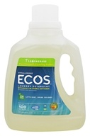 Earth Friendly - ECOS Hypoallergenic Laundry Detergent with Built-In Fabric Softeners ...