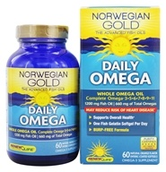 ReNew Life - Norwegian Gold Ultimate Fish Oil Daily Omega 1200 mg. - 60 Fish Softgel(s) - $16.99