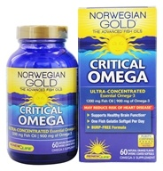 ReNew Life - Norwegian Gold Ultimate Fish Oil Critical Omega 1200 mg. - 60 Fish Softgel(s)