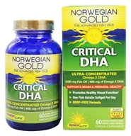 Image of ReNew Life - Norwegian Gold Ultimate Fish Oil Critical DHA 1200 mg. - 60 Softgels