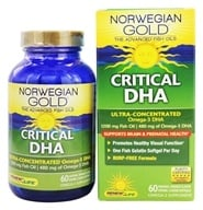 ReNew Life - Norwegian Gold Ultimate Fish Oil Critical DHA 1200 mg. - 60 Softgels, from category: Nutritional Supplements