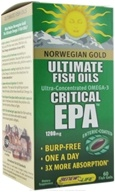 ReNew Life - Norwegian Gold Ultimate Fish Oil Critical EPA 1200 mg. - 60 Softgels, from category: Nutritional Supplements