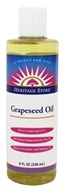 Heritage - Grapeseed Oil 100% Pure Expeller Pressed Massage Oil - 8 oz.