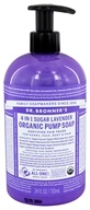 Dr. Bronners - 4-In-1 Organic Pump Soap Sugar Lavender - 24 oz. Formerly Shikakai Soap