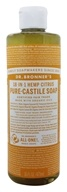 18-in-1 Hemp Pure Castile Liquid Soap Citrus Orange - 16 fl. oz. by Dr. Bronners