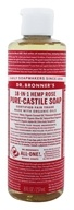 Image of Dr. Bronners - Magic Pure-Castile Soap Organic Rose - 8 oz.