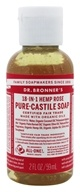 Image of Dr. Bronners - Magic Pure-Castile Soap Organic Rose - 2 oz.