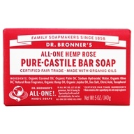 Dr. Bronners - Magic Pure-Castile Bar Soap Organic Rose - 5 oz. (018787788059)