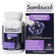 Image of Sambucol - Black Elderberry Original Formula - 30 Chewable Tablets