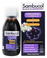 Sambucol - Black Elderberry Original Formula + Vitamin C + Zinc - 4 oz. (formerly Immune Formula) (896116001150)