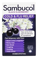 Sambucol - Black Elderberry Cold and Flu Relief - 30 Tablets (896116001501)