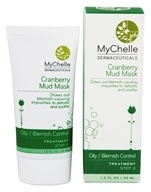 Image of MyChelle Dermaceuticals - Cranberry Mud Mask Treatment for Acne Oily Skin - 1.2 oz.