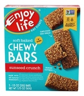 Enjoy Life Foods - Baked Chewy Bars SunSeed Crunch - 5 Bars Formerly SunButter Crunch