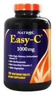 Natrol - Easy-C Vitamin C with Bioflavonoids 1000 mg. - 180 Vegetarian Tablets - $16.78