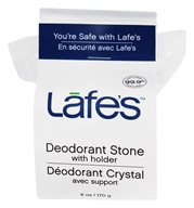 Image of Lafes - Natural and Organic Deodorant Crystal Stone with Holder Fragrance-Free - 6 oz.