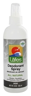 Lafes - Natural and Organic Deodorant Spray with Aloe Vera & MSM Fragrance-Free - 8 oz.