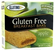 Glutino - Gluten Free Breakfast Bars Apple - 7.1 oz.
