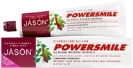 Jason Natural Products - PowerSmile All Natural Whitening Toothpaste Fluoride-Free Cinnamon Mint - 6 oz. (078522618942)