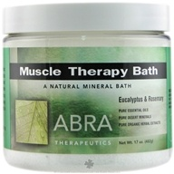 Abra Therapeutics - Muscle Therapy Bath Eucalyptus & Rosemary - 17 oz. by Abra Therapeutics