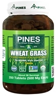 Image of Pines - Wheat Grass Tabs 500 mg. - 250 Tablets