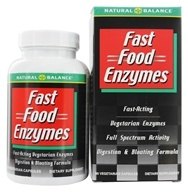 Image of Natural Balance - Fast Food Enzymes - 90 Vegetarian Capsules
