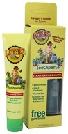 Earth's Best - Toddler Toothpaste by Jason Natural Products Strawberry & Banana - 1.6 oz. by Earth's Best