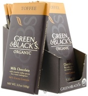 Image of Green & Black's Organic - Toffee Milk Chocolate Bar 34% Cocoa - 3.5 oz.