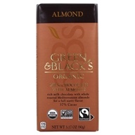 Image of Green & Black's Organic - Almond Milk Chocolate Bar 37% Cocoa - 3.5 oz.