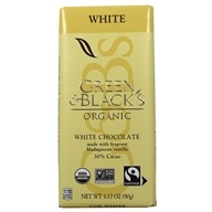 Green & Black's Organic - White Chocolate Bar 30% Cocoa - 3.5 oz. (708656100036)